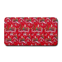 Red Background Christmas Medium Bar Mats