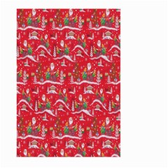 Red Background Christmas Large Garden Flag (two Sides)