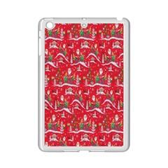 Red Background Christmas Ipad Mini 2 Enamel Coated Cases