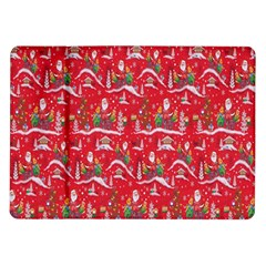 Red Background Christmas Samsung Galaxy Tab 10 1  P7500 Flip Case