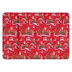 Red Background Christmas Samsung Galaxy Tab 8 9  P7300 Flip Case
