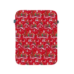 Red Background Christmas Apple Ipad 2/3/4 Protective Soft Cases
