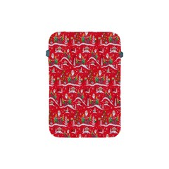 Red Background Christmas Apple Ipad Mini Protective Soft Cases