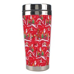 Red Background Christmas Stainless Steel Travel Tumblers