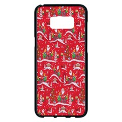 Red Background Christmas Samsung Galaxy S8 Plus Black Seamless Case