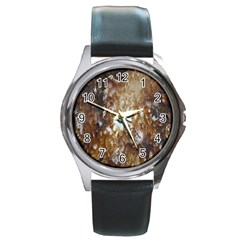 Rusty Texture Pattern Daniel Round Metal Watch