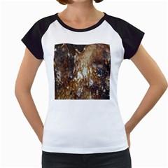 Rusty Texture Pattern Daniel Women s Cap Sleeve T