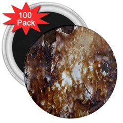 Rusty Texture Pattern Daniel 3  Magnets (100 Pack)