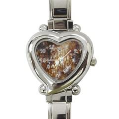 Rusty Texture Pattern Daniel Heart Italian Charm Watch
