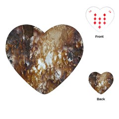 Rusty Texture Pattern Daniel Playing Cards (heart)