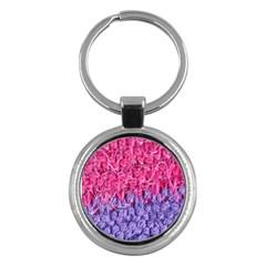 Wool Knitting Stitches Thread Yarn Key Chains (round)