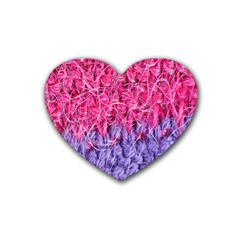 Wool Knitting Stitches Thread Yarn Heart Coaster (4 Pack)