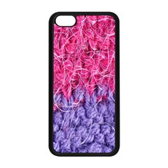 Wool Knitting Stitches Thread Yarn Apple Iphone 5c Seamless Case (black)