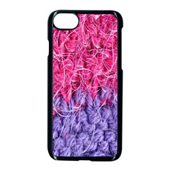 Wool Knitting Stitches Thread Yarn Apple Iphone 7 Seamless Case (black)