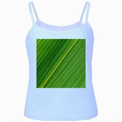 Leaf Plant Nature Pattern Baby Blue Spaghetti Tank