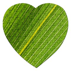 Leaf Plant Nature Pattern Jigsaw Puzzle (heart)