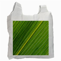Leaf Plant Nature Pattern Recycle Bag (two Side)