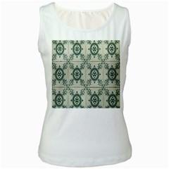 Jugendstil Women s White Tank Top