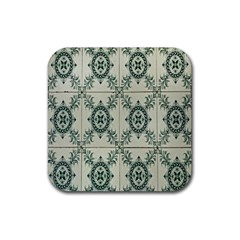 Jugendstil Rubber Square Coaster (4 Pack)