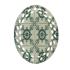 Jugendstil Oval Filigree Ornament (two Sides)