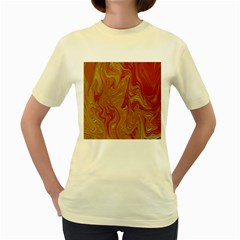 Texture Pattern Abstract Art Women s Yellow T Shirt
