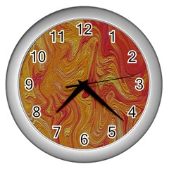 Texture Pattern Abstract Art Wall Clocks (silver)