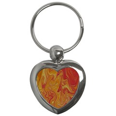 Texture Pattern Abstract Art Key Chains (heart)
