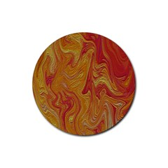 Texture Pattern Abstract Art Rubber Coaster (round)