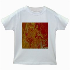 Texture Pattern Abstract Art Kids White T Shirts