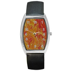 Texture Pattern Abstract Art Barrel Style Metal Watch