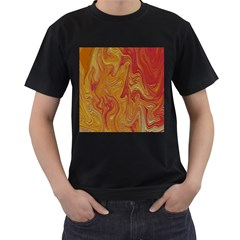 Texture Pattern Abstract Art Men s T Shirt (black) (two Sided)