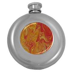 Texture Pattern Abstract Art Round Hip Flask (5 Oz)