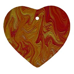 Texture Pattern Abstract Art Heart Ornament (two Sides)