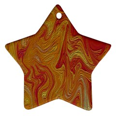 Texture Pattern Abstract Art Star Ornament (two Sides)