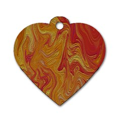 Texture Pattern Abstract Art Dog Tag Heart (two Sides)