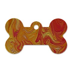 Texture Pattern Abstract Art Dog Tag Bone (one Side)