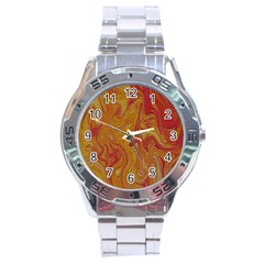 Texture Pattern Abstract Art Stainless Steel Analogue Watch