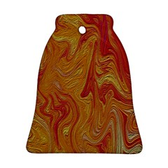 Texture Pattern Abstract Art Bell Ornament (two Sides)