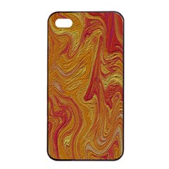 Texture Pattern Abstract Art Apple Iphone 4/4s Seamless Case (black)