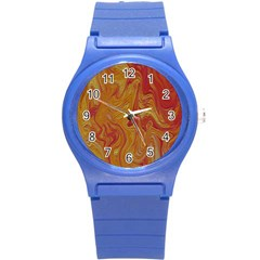 Texture Pattern Abstract Art Round Plastic Sport Watch (s)