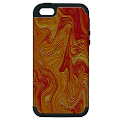 Texture Pattern Abstract Art Apple Iphone 5 Hardshell Case (pc+silicone)