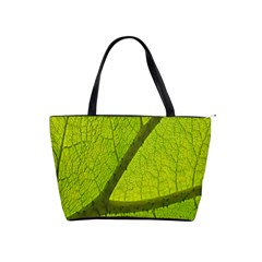 Green Leaf Plant Nature Structure Shoulder Handbags