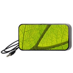 Green Leaf Plant Nature Structure Portable Speaker