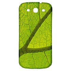 Green Leaf Plant Nature Structure Samsung Galaxy S3 S Iii Classic Hardshell Back Case