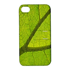 Green Leaf Plant Nature Structure Apple Iphone 4/4s Hardshell Case With Stand