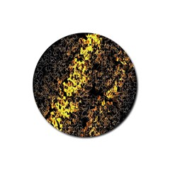 The Background Wallpaper Gold Rubber Coaster (round)