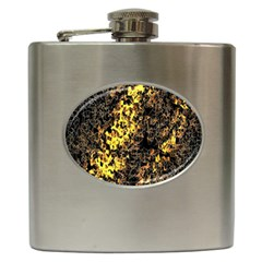 The Background Wallpaper Gold Hip Flask (6 Oz)