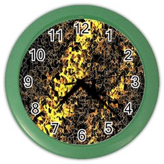 The Background Wallpaper Gold Color Wall Clocks