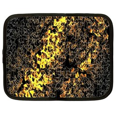 The Background Wallpaper Gold Netbook Case (large)