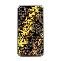 The Background Wallpaper Gold Apple Iphone 4 Case (clear)